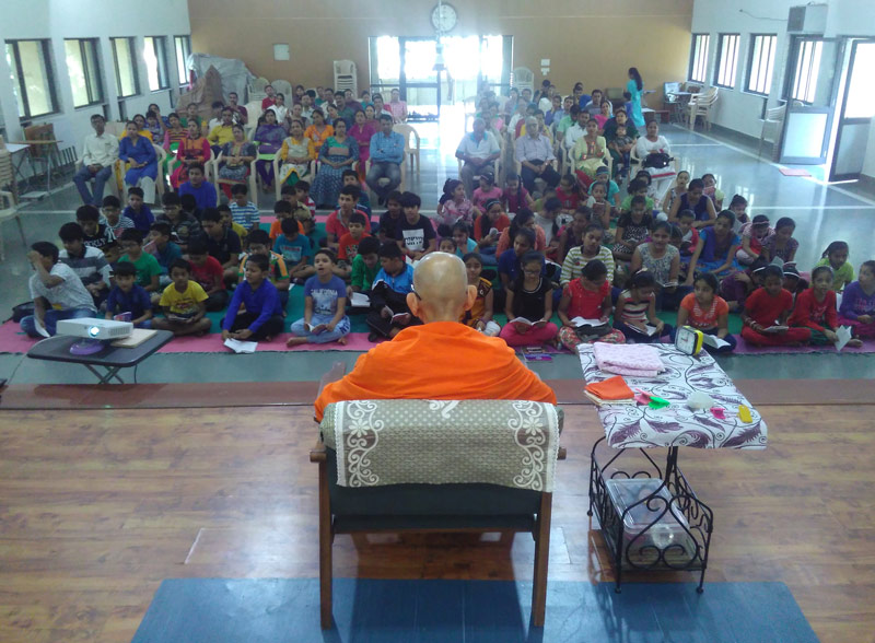 Swamiji addressing during orientation – 2017